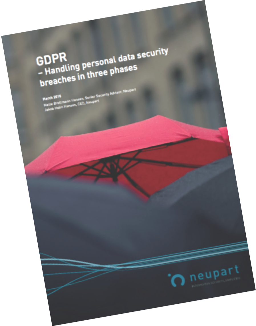 GDPR - Handling personal data security breaches in three phases