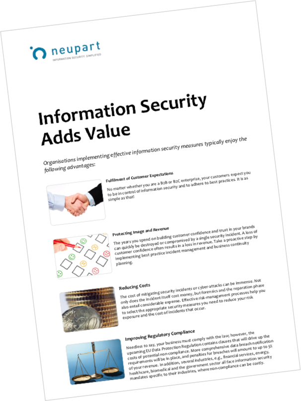 Information security adds value