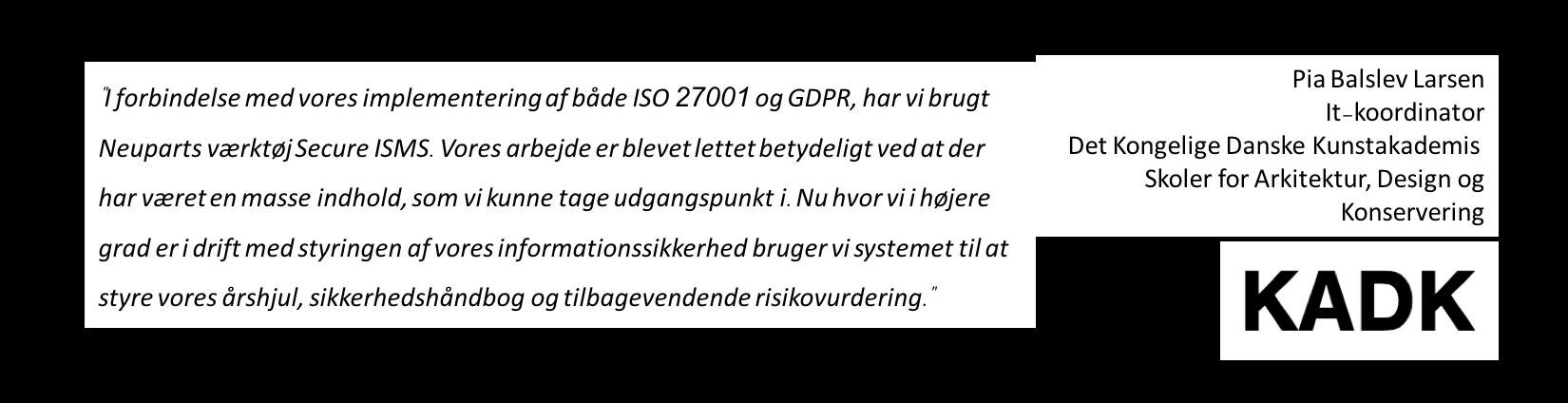 ISO 27001 - GDPR - Årshjul, sikkerhedshåndbog og risikostyring